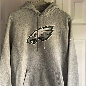 EUC Philadelphia Eagles Gray Nike Hoodie
